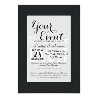 """""""Life is too short. Live it"""" Quote 9 Cm X 13 Cm Invitation Card"""