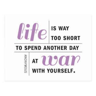Life is Way Too Short Motivational Postcard