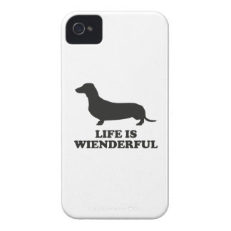 Life Is Wienderful iPhone 4 Case-Mate Case
