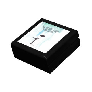 Life Isn't About Waiting for the Storm to Pass Small Square Gift Box