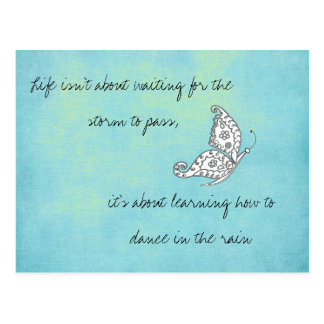 Life isn't about Waiting Quote Postcard