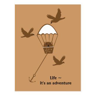 Life it s an adventure postcard
