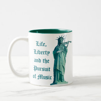 Life, Liberty and the Pursuit of Music - Statue Two-Tone Mug