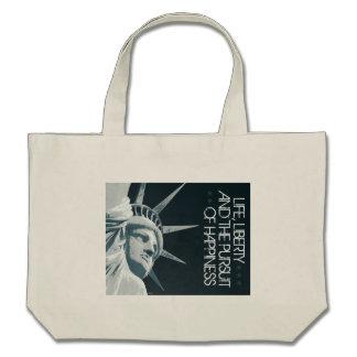 Life Liberty Happiness Tote Bag