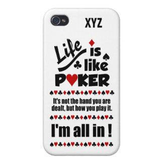 LIFE LIKE POKER custom cases Case For The iPhone 4