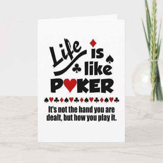 Life like poker custom greeting cards zazzle life like poker custom greeting cards m4hsunfo