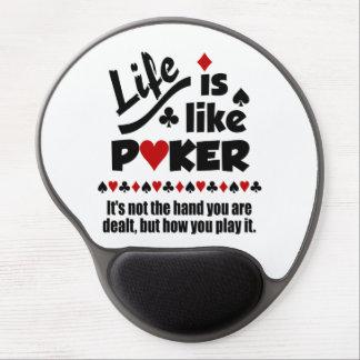 LIFE LIKE POKER custom mousepad Gel Mouse Pad