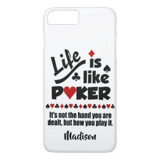 Life Like Poker custom name phone cases