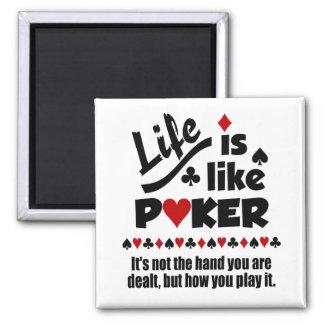 Life Like Poker magnet