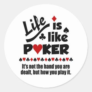 Life Like Poker stickers