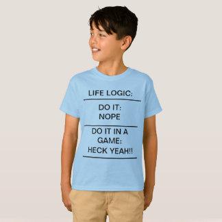 LIFE LOGIC Funny Kids T-Shirt School