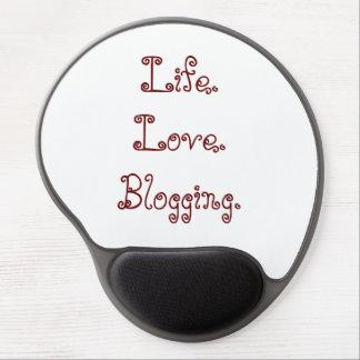 Life. Love. Blogging. Gel Mousepad Gel Mouse Mat