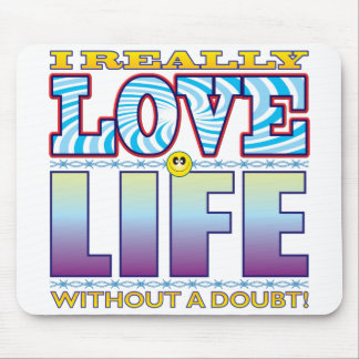 Life Love Face Mouse Pad