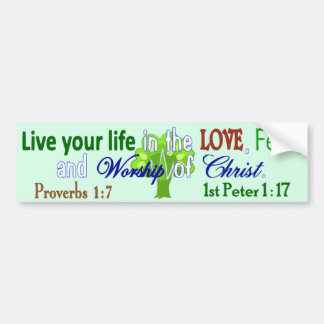 Life, Love, Fear & Worship Bumper Sticker