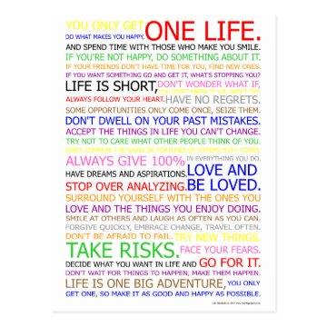 Life Manifesto Color Poster Postcard at Zazzle