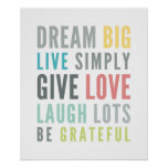 LIFE MANTRA positive cool typography pastel