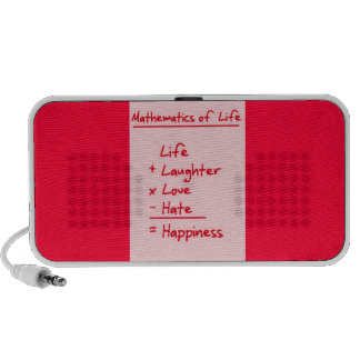 LIFE MATHMATICES QUOTES CUTE TRUISMS POSITIVE OUTL PORTABLE SPEAKERS