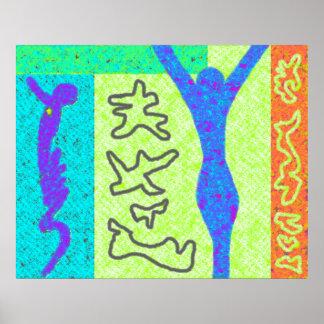Life ~ Modern Art ~  Modern colourful Poster