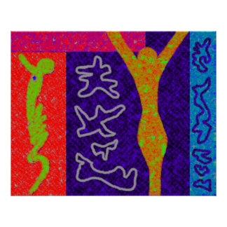Life ~ Modern Art ~  Modern colourful Print