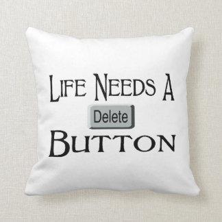 Life Needs A Delete Button Throw Pillow