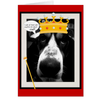 Life of a Basset Hound Greeting Card