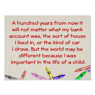 Life of a child - Quote Poster