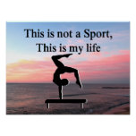 LIFE OF A GYMNAST POSTER