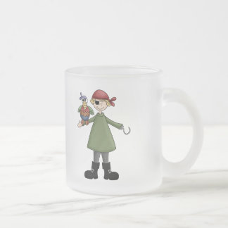 Life Of A Pirate Frosted Glass Coffee Mug
