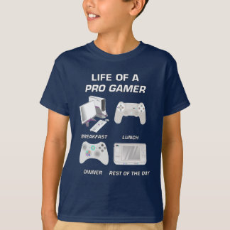Life Of A Pro Gamer Gaming Gear T-Shirt