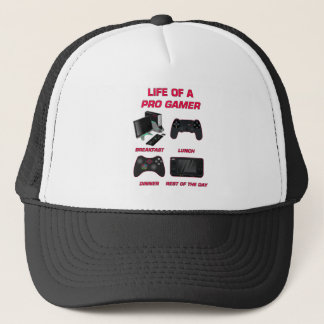 Life Of A Pro Gamer Red Gaming Gear Trucker Hat