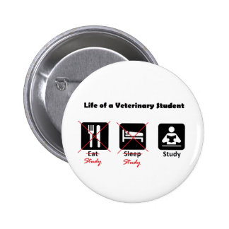 Life of a Vet Student Button