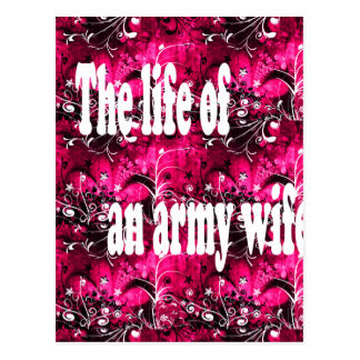 life of an army wife postcard
