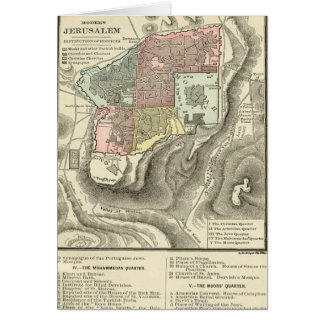 Life Of Christ Preface Map Greeting card