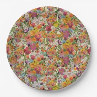 Life of flowers floral plate design  Lo Lah Studio