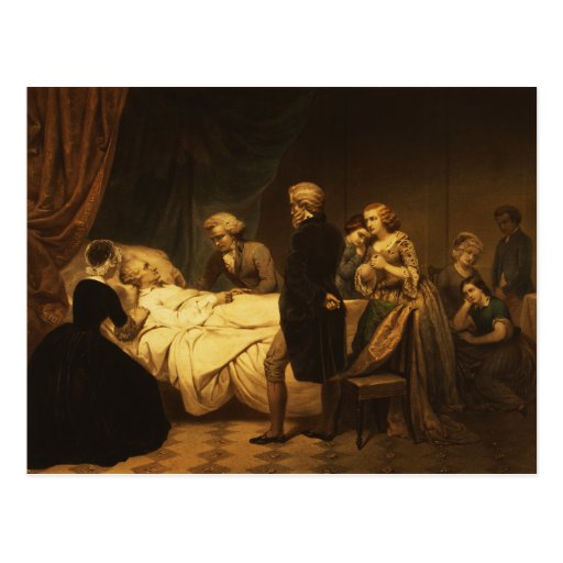 Life of George Washington The Christian Death Postcard