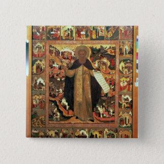 Life of St. Sergius of Radonesh, 1640s 15 Cm Square Badge