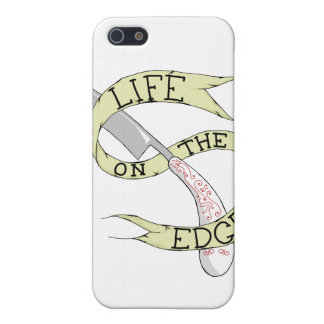 Life on the Edge Barbering Razor iPhone Cover iPhone 5/5S Cover