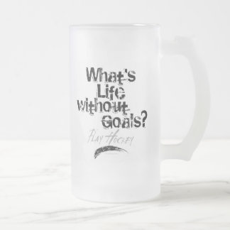 Life on the Edge frosted beer mug