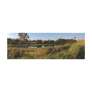 Life on the Pond (3) Panoramic Canvas Print