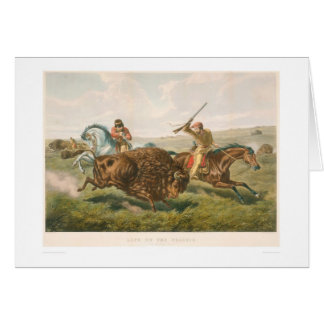 Life on the Prairie: The Buffalo Hunt (0878A) Card