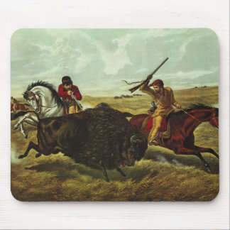 Life on the Prairie - the Buffalo Hunt, 1862 Mouse Mat