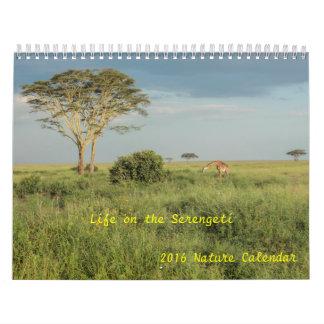 Life on the Serengeti 2016 Wildlife Calendar