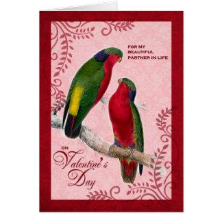 Life Partner Valentine's Day Love Birds Card