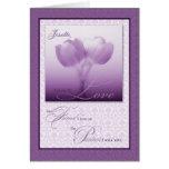 Life Partner Wedding Anniversary Purple Tulips Cards