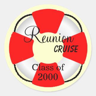 Life Preserver-Reunion Cruise Classic Round Sticker