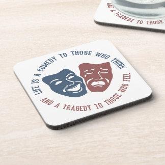 LIFE quote coasters