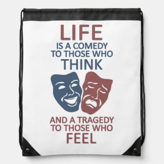 LIFE quote custom bag