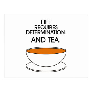 Life requires determination. And tea. (© Mira) Postcard