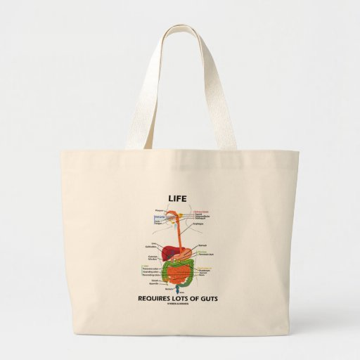 Life Requires Lots Of Guts (Digestive System) Canvas Bag