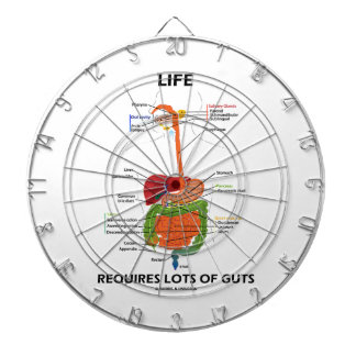 Life Requires Lots Of Guts (Digestive System) Dartboard